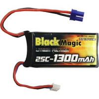 Akumulátor Black Magic LiPol 1300mAh/7,4V 25C JST  BMF25-1300-2EC2