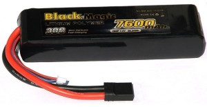 Akumulátor Black Magic Car LiPol 7600mAh/7,4V 30C TRAX  BMA30-7600-2TR