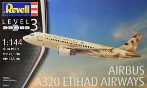 Airbus A320 Etihad Model Set 1/144