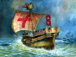 Crusaders Ship XII-XIV cent.  1/72