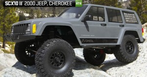 Axial RC SCX10 II 2000 Jeep® Cherokee 4WD sivý 1/10 RTR