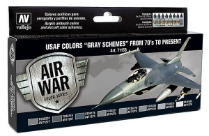 Farby Vallejo USAF Gray schemes 1970 to present  8x17 ml