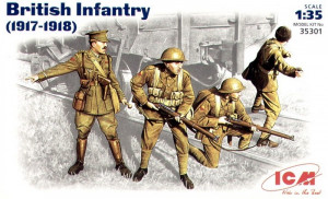British Infantry, 1917 - 1918 WW1  1/35 ICM 35301