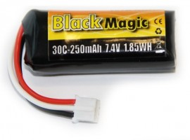Akumulátor Black Magic LiPol 250mAh/7,4V JST-PH  BMU30-0250-2S