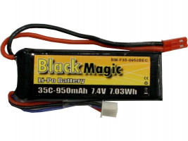 Akumulátor Black Magic LiPol 950mAh/7,4V 35C BMF35-0950-2JST