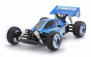 Tamiya RC Neo Scorcher buggy Blue Metal. TT-02B nenafarbený 1/10 KIT