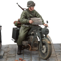 Zündapp KS-750/1 Motorcycle w. Trooper 1/16 stavebnica