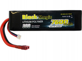 Akumulátor Black Magic Car LiPol 7600mAh/7,4V 30C BMA30-7600-2D