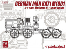 MAN KAT1M1001 8x8 HIGH-Mobility off- road truck 1/72