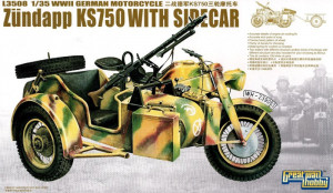 Zündapp KS 750 with Sidecar /w trailers 1/35 Great Wall Hobby