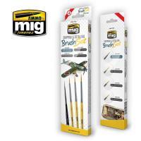 Sada štetcov MIG Chipping & Detailing Brush Set 4 ks