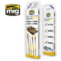 Sada štetcov MIG Streaking & Vertical Surfaces Brush Set 4 ks