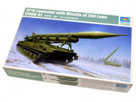 2P16 Launcher with Missile of 2k6 Luna 1/35