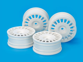 Disky kolies 24mm RallyDish Wheels 0 Whi *4 1/10 4ks
