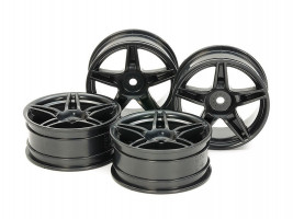 Disky kolies 24mm Twin5spk Wheels +2 Black 4 ks 1/10