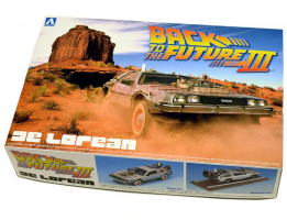 Back To The Future Delorean From Part III & Railroad Version1/24