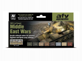 Farby Vallejo sada Middle East Wars 1967 to present 8x17 ml