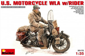 U.S.Motorcycle WLA with Rider 1/35 MiniArt