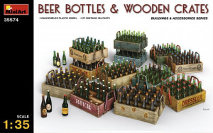 Beer Bottles & Wooden Crates 1/35 MiniArt