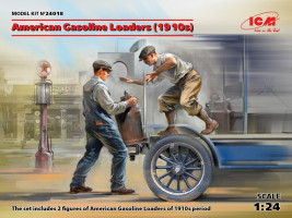 American Gasoline Loaders (1910s) 2 figures 1/24 ICM