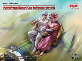 American Sport Car Drivers 1910s (1 male, 1 female fig.) 1/24 ICM
