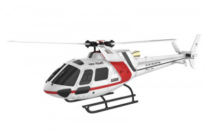 RC vrtuľník AS350 Brushless 3D 3-blade 6G Flybarless RTF
