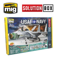 Sada USAF/US NAVY Air Superiority Grey Camouflages Solution Box