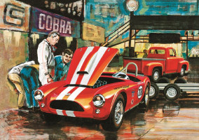 Cobra Racing Team - Shelby Cobra & '53 Ford Pickup & Trailer 1/25