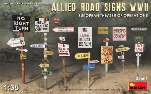 Allied Road Signs WW2 (European) 1/35