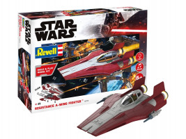 Resistance A-wing Fighter, red Star Wars 1/44