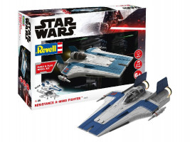 Resistance A-wing Fighter, blue Star Wars 1/44