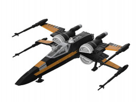 Poe's Boosted X-wing Fighter Star Wars 1/78