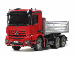 MB Arocs 3348 Tipper Truck 6x4 Red/Silver 1/14 KIT