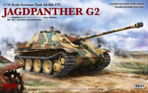 Jagdpanther G2 w/workable track links 1/35 Rye Field Model