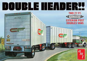 Double Header Tandem Van Trailer 1/25