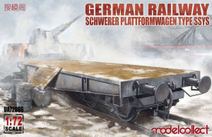German Railway Schwerer Plattformwagen Type ssys 1+1 pack 1/72