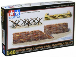 Brick, sandbag, barricade  1/48