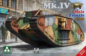 WWI Heavy Battle Tank Mk.IV 2 in 1(Sp. Ed.) 1/35