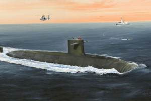 French Navy Le Triomphant SSBN 1/350