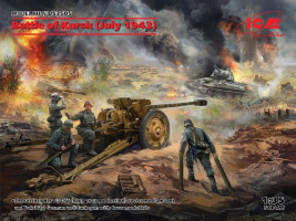 Battle of Kursk July 1943 T-34-76, Pak 36(r) w. Crew 1/35