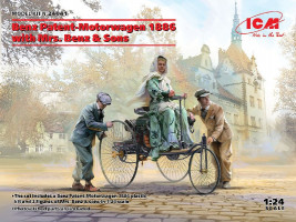 Benz Patent-Motorwagen 1886 with Mrs. Benz & Sons 1/24