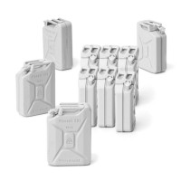German Jerry water Cans Set 10 ks 1/16