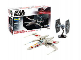 Collector Set X-Wing Fighter + TIE Fighter Star Wars 1/57 & 1/65