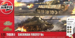 Classic Conflict Tiger 1 vs Sherman Firefly Gift Set 1/72