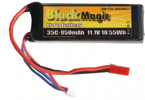 Akumulátor Black Magic LiPol 950mAh/11,1V 35C JST
